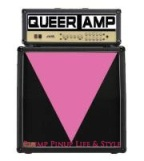 Photo: Queer Amp at Quenchers bar and saloon logo. An amp with an inverted pink triangle on it. Photo source: Google Images, Queer Amp