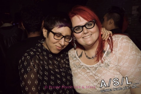 Photo: Posing with a friend at the Northern Lights second anniversary party at Parlour on Clark. Photo source: Google Images, ASL Media