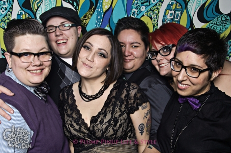 Photo: A group of queers posing at FKA NYE. Image source: Google Images, Glitter Guts
