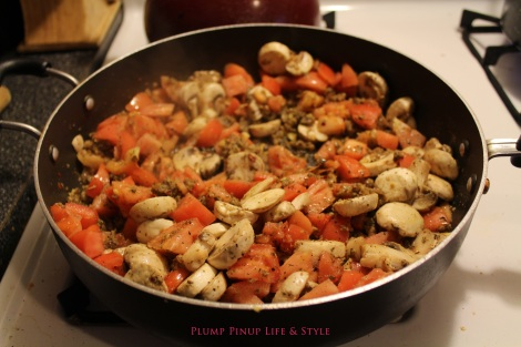 Photo: Sautéing the veggies for the hearty vegan pasta sauce. Photo source: Google Images