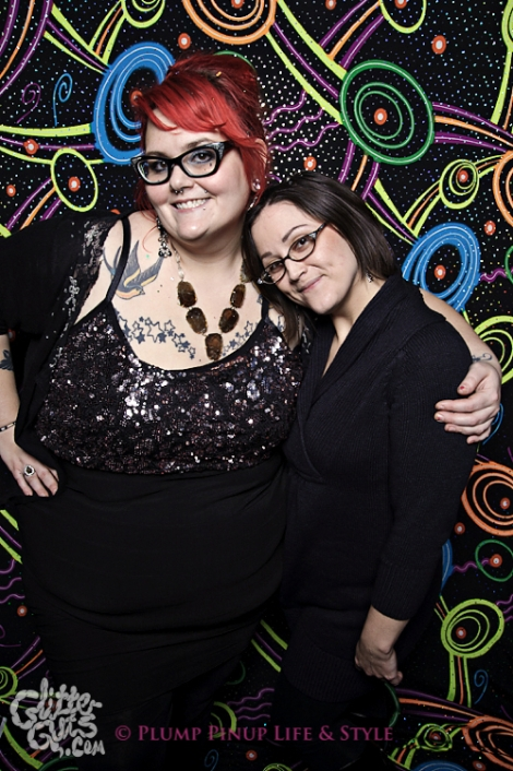 Photo: Posing with my roommate at Salonathon Presents: You're Gonna Die at the Metro. Photo source: Google Images, Glitter Guts