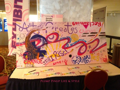 Photo: Sunday 7 Creating Change 2013 National Gay and Lesbian TaskForce conference at the Hilton Atlanta, Georgia. Google Images mural