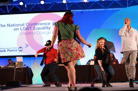 Photo: Friday 18 Creating Change 2013 National Gay and Lesbian TaskForce conference at the Hilton Atlanta, Georgia. Google Images ball big girl dance off 1