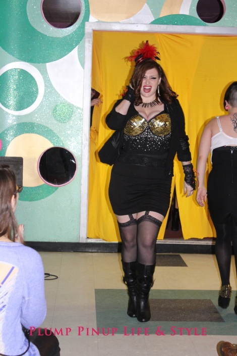 Photo: Salonathon Lexica at Beauty Bar Chicago Fashion Show Bras as shirts for plus size fat people Photo Source: Google Images 8 Cassandra runway shot gold disco bra torrid longline bra with rhinestones