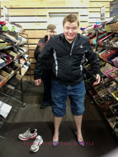 Photo: Cincinnati trip Photo source: Google images 6 DSW Gayest Gay trying on heels