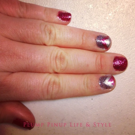 Photo: Cincinnati trip Photo source: Google images 17 nail polish with small brushes for nail art from Meijer used to make pink, blue and silver chevron nails