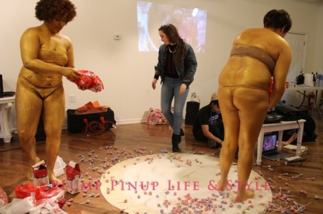 Photo: So Very Alive: Performing Feminist and Queer Utopias, Futures and Dreams at Rumble Arts Center. Image Source: Google Images 2 AMINA ROSS AND ALLISON SHYER spread sugar and candy all over the floor