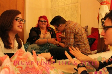 Photo: Anita Butch's birthday slumber party. Photo source: Google Images, Kate Sosin 2 Lex panting my nails, Cassandra and Cassie doing nail art