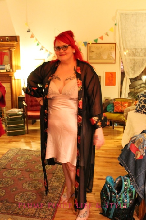 Photo: Anita Butch's birthday slumber party. Photo source: Google Images, Kate Sosin 5 OOTD sheer robe and light pink night gown