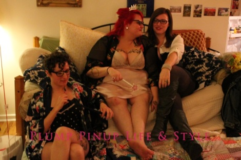 Photo: Anita Butch's birthday slumber party. Photo source: Google Images, Kate Sosin 8 Me, Cassandra and Cassie playing truth or dare