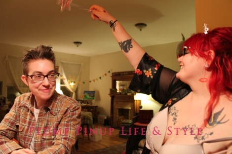 Photo: Anita Butch's birthday slumber party. Photo source: Google Images, Kate Sosin 9 Me conjuring over Lex's head
