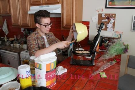 Photo: Anita Butch's birthday slumber party. Photo source: Google Images, Kate Sosin 12 Lex making waffles