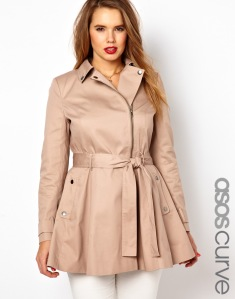 Photo: ASOS CURVE Fit & Flare Biker Trench Photo source: Google Images, ASOS