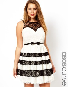 Photo: ASOS CURVE Skater Dress With Contrast Lace Photo source: Google Images, ASOS