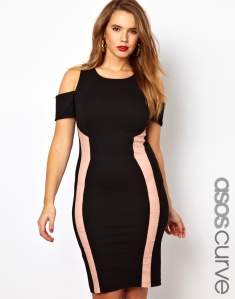 Photo: ASOS CURVE Body-Conscious Dress With Panels And Cold Shoulder Photo source: Google Images, ASOS