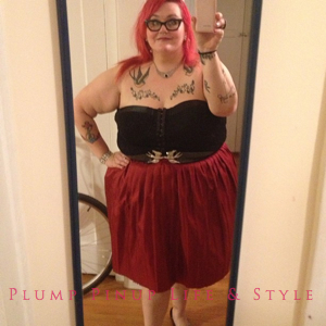 Photo: Instagram OOTD Roundup April/May 2013 Photo Source: Google Images Thrifted red check circle skirt and Torrid black lace bustier