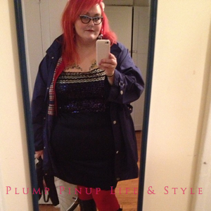 Photo: Instagram OOTD Roundup April/May 2013 Photo Source: Google Images Thrifted navy dress with silver sequins and rain jacket