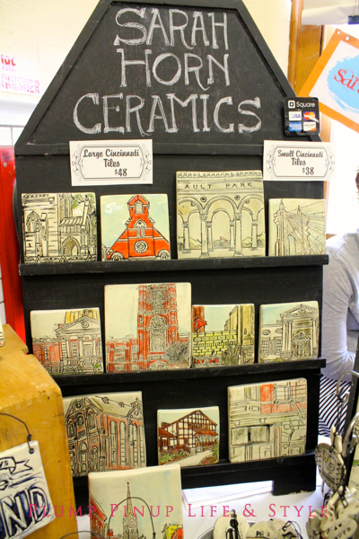 Photo: Crafty Supermarket Spring 2013 at Clifton Cultural Arts Center in Cincinnati, Ohio. Photo source: Google Images Cincinnati ceramic tiles by Sarah Horn Ceramics of the Cincinnati Tile Studio