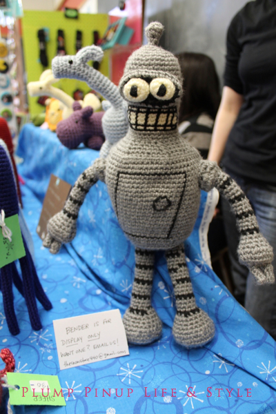 Photo: Crafty Supermarket Spring 2013 at Clifton Cultural Arts Center in Cincinnati, Ohio. Photo source: Google Images Crocheted Bender by The Snow Store