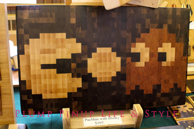 Photo: Crafty Supermarket Spring 2013 at Clifton Cultural Arts Center in Cincinnati, Ohio. Photo source: Google Images Pacman woodworking by 1337 Motif