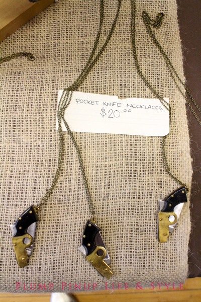 Photo: Crafty Supermarket Spring 2013 at Clifton Cultural Arts Center in Cincinnati, Ohio. Photo source: Google Images Pocket Knife Necklace by Off The Beaten Path
