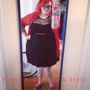 OOTD: Instagram Roundup July 2013 Photo Source Google Images Torrid Dress with mesh dot accent with red bed jacket