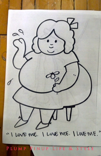 Photo: Make your own gendertastic coloring book event at Powell's books Photo source: Google Images, Anita Butch fat body love coloring page