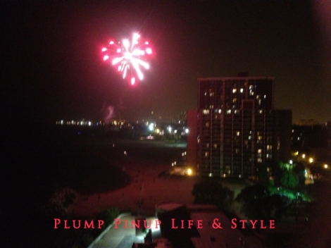 Photo: 4th of July at the beach for Jackie's birthday. Photo Source: Google Images, Anita Butch Fireworks over Chicago Beach Red