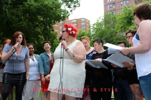 Photo: Dyke March Chicago 2013 at Margate Park Image Source: Google Image, Anita Butch Queer Quior performing Criminal/You Oughta Know Mashup 1