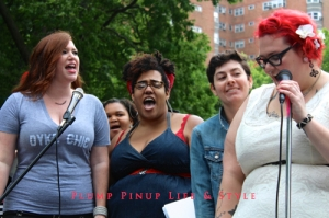 Photo: Dyke March Chicago 2013 at Margate Park Image Source: Google Image, Anita Butch Queer Quior performing Criminal/You Oughta Know Mashup 2