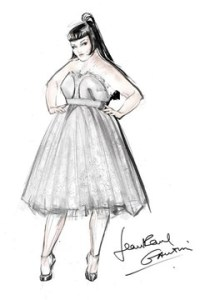 Photo: Beth Ditto and Kristin Ogata wed in Maui, Hawaii. Photo Source: Google Images, Vogue.com Jean Paul Gaultier wedding dress sketch