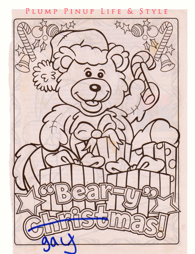 Photo: Make your own gendertastic coloring book event at Powell's books Photo source: Google Images, Anita Butch The Fierce Femmetastic Coloring Book Beary Gaymas page