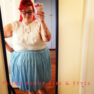 OOTD: Instagram Roundup July 2013 Photo Source Google Images Torrid pussy bow top with blue and white polka dot vintage skirt