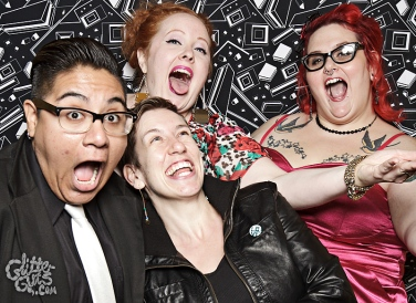 Photo: Queerer Park Homocoming in Monochrome Photo source: Google Images, Glitter Guts 2 screaming faces group shot Elaine, Me, CT, Kaaren