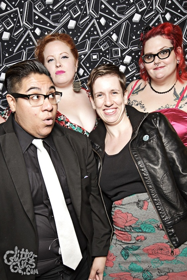 Photo: Queerer Park Homocoming in Monochrome Photo source: Google Images, Glitter Guts 1 Fierce faces group shot Elaine, Me, CT, Kaaren