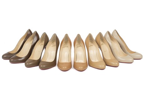 Photo: Christian Louboutin's Color Match Nude Line. Image Source: Google Images, The Gaurdian 1 Lineup of nudes collection